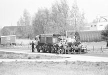 Asfalteringswerkzaamheden door ZA&A aan de Beneluxweg in Terneuzen.