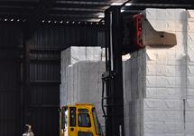 Opslag van papier bij Verbrugge Terminals in Terneuzen.