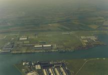 Luchtfoto van een gedeelte van de Quarleshaven te Vlissingen-Oost.