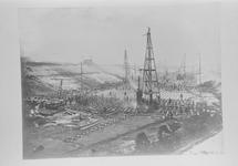 Reproductie van een foto omstreeks 1907 van de...