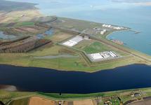 Luchtfoto Valuepark Terneuzen met een gedeelte van de Braakmankreek,...