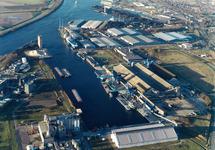Luchtfoto Zevenaarhaven Terneuzen.