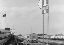 Scheepvaart verkeersbord aan de Beneluxweg in Terneuzen.