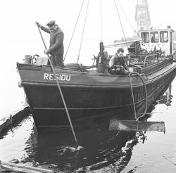 Vaartuig Residu voor de inontvangstname van afgewerkte olie in de...