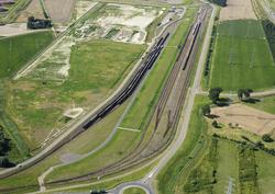 Spoorbundel aan de Europaweg-Oost.