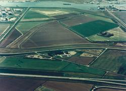 Luchtfoto van het gebied tussen de Frankrijkweg en Luxemburgweg dat...