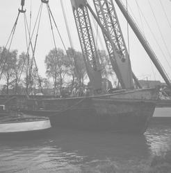 Bergen van het gezonken m.s. Tai Pan in zijkanaal B te Sluiskil.