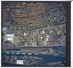 verticale luchtfoto havengebied Terneuzen. Coordinaten: 372085-46405,...