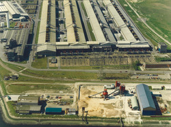 Luchtfoto Vlissingse Transportbeton Onderneming B.V. aan de...