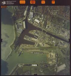 Luchtfoto Vlissingen, Binnenhavens en Buitenhaven.