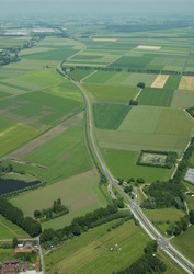 Tractaatweg / N62 gezien vanuit het zuiden naar het noorden.