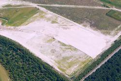 Luchtfoto werkzaamheden aan het zanddepot op de Mosselbanken in het...