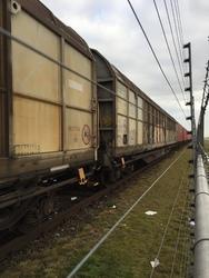 Trein in het havengebied Vlissingen-Oost.