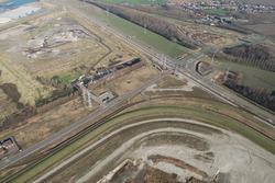 Luchtfoto Vlissingen-Oost van de rotonde Europaweg met onder het...