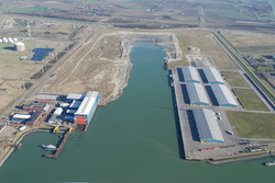 Luchtfoto Vlissingen-Oost van de Scaldiahaven.