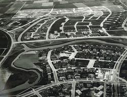 Luchtfoto nieuwbouwwijk in Vlissingen.