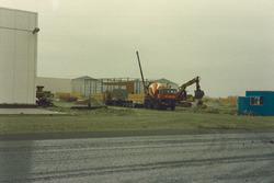 3e loods Van Bon aan Bijleveldhaven in aanbouw.