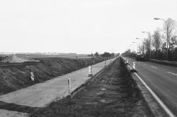 Aanleg fietspad langs de rijksweg N252 bij Sas van Gent.