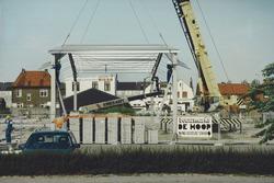 Nieuwbouwwerkzaamheden bij bouwmarkt De Hoop aan de Schuttershofweg in...