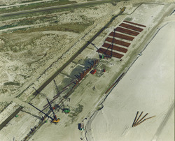 Luchtfoto aanleg 1e fase Scaldiahaven.