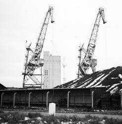 Overslag kolen in de Zevenaarhaven.
