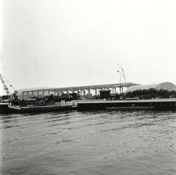 Werkzaamheden bouw tweede ro-ro haven in de Zevenaarhaven.