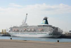 Cruiseschip Artania in de Bijleveldhaven.