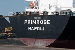 Zeeschip Primrose aan de kade bij Ovet in de Kaloothaven.