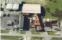 Luchtfoto van de bedrijven rond de kruising Engelandweg -...