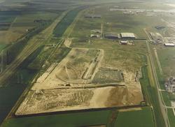 Luchtfoto van de braakliggende terreinen aan de Ritthemsestraat te...