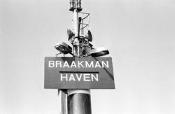Bord met de tekst Braakmanhaven.