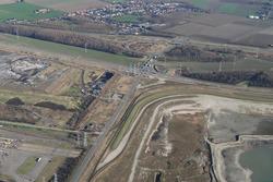Luchtfoto Vlissingen-Oost van de rontonde op de Europaweg met...