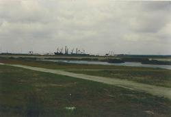 Loods Flushing Stevedoring aan Bijleveldhaven in aanbouw.
