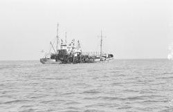 Baggerschip Lesse van baggerbedrijf de Boer. Waarschijnlijk in de...