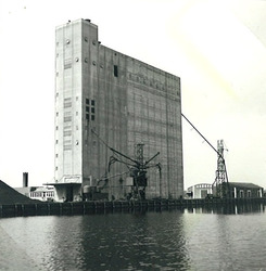 Graanloods in de Zevenaarhaven.