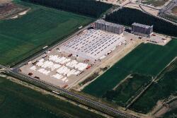 Luchtfoto van de vestiging van Katoennatie in het Valuepark Terneuzen.