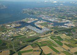 Overzichtsfoto havengebied Vlissingen-Oost