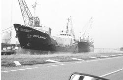 Zeeschepen Boltenhagen en Vigshes in de Noorderkanaalhaven.