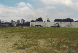 Bouw vestiging Zeeland Cement op de Axelse Vlakte.