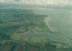 Luchtfoto havengebied Vlissingen-Oost.