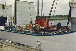 Overslag in de Bijleveldhaven.