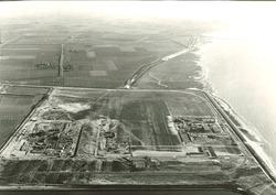 Luchtfoto haventerreinen aan de Europaweg-Oost te Vlissingen-Oost.