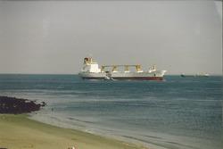 Zeeschip op de Westerschelde bij Vlissingen.