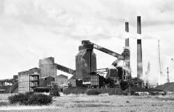 Overzichtsfoto van de Cokesfabriek bij Sluiskil.