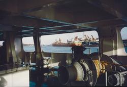 Kanaal van Gent naar Terneuzen, stuurhuis schip.
