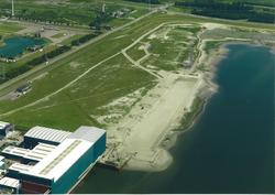 Luchtfoto Vlissingen-Oost van de aanleg Scaldiahaven, 2e fase, bestek...