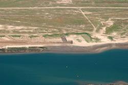Luchtfoto van Vlissingen-Oost met het te ontwikkelen terrein voor...