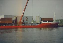 Overslag rollen stal bij Outokumpu Steel Processing op de Axelse...