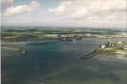 Luchtfoto havenmonding Vlissingen-Oost.