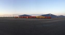 Trein met containers bij Scaldia Zeeland Warehousing in de...